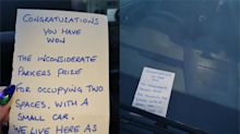 Woman left in hysterics by 'petty and sarcastic' car note