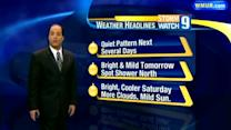 Quiet, mild weather through weekend