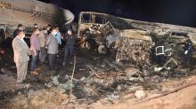 21 killed, 3 injured when bus, truck crash in southern Egypt