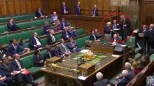 Moment Boris Johnson ignores John Bercow and walks out of Parliament following bitter debate