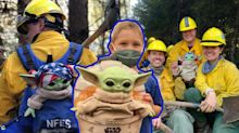 How little boy's Baby Yoda gift became good-luck charm to wildfire-fighting crews