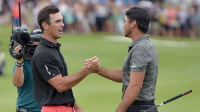 Horschel wins after Day boots playoff par putt