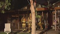 Firefighters struggle with blaze on Gulf St.
