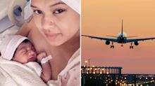 'Never seen anything like it': Pregnant woman goes into labour during flight