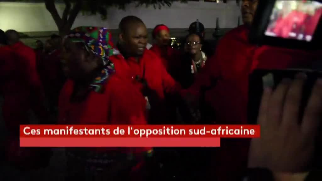 afrique du sud bagarre g n rale au parlement avant un discours du pr sident jacob zuma. Black Bedroom Furniture Sets. Home Design Ideas