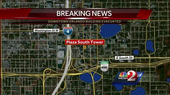 Fire at The Plaza forces evacuations in downtown Orlando