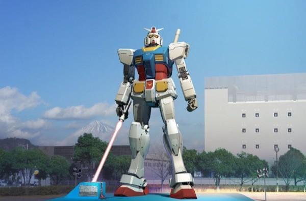 Giant Gundam statue returns with beam saber to threaten Mt. Fuji
