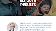 Sanofi Q3 2018 Performance Confirms Return to Growth