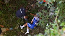 Horror crash at Tour of Lombardy as Remco Evenepoel tumbles over barrier and into ravine