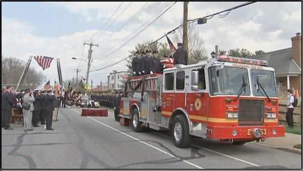 Final farewell begins for fallen Philadelphia firefighter Michael Goodwin