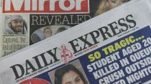 Tabloides britânicos Daily Mirror e Daily Express vão cortar 550 vagas