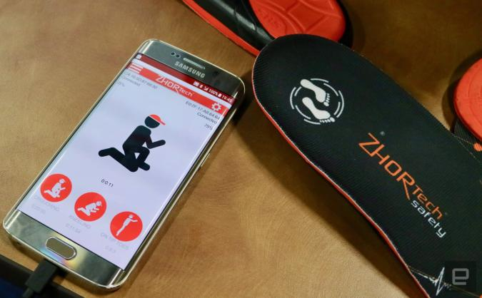 A smart insole pairs with an app to track how tired you are