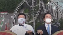 Rollercoaster riders told to stay silent and 'scream inside your heart' to curb Japan COVID-19 spread