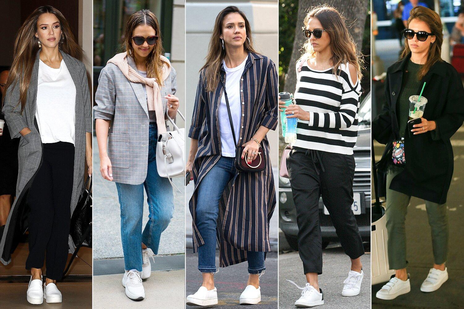 Jessica Alba Has Been Wearing This Classic Sneaker Trend for Decades