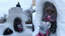 Norte-americano cria forte na neve com acessibilidade para cadeirantes