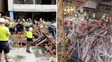 Frantic video reveals desperate attempt to save tradies trapped under scaffold collapse