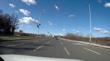 Dashcam captures footage of meteor shooting over Croatia in broad daylight