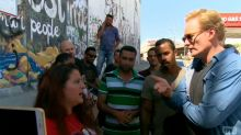 Conan O'Brien encounters Palestinian activists during trip to Israel