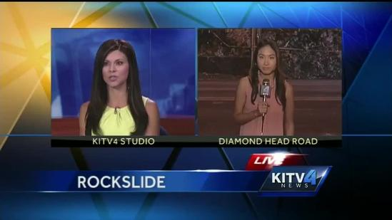 Diamond Head rockslide the morning after