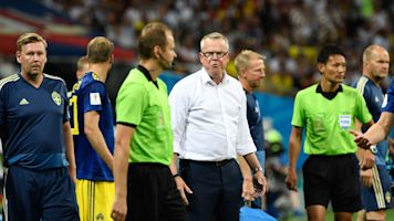 Sweden coach explodes following Germany loss
