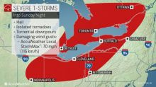Severe thunderstorms threaten Great Lakes, Northeast early week
