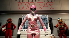 Lupita Nyong'o went undercover at Comic Con as the Pink Power Ranger