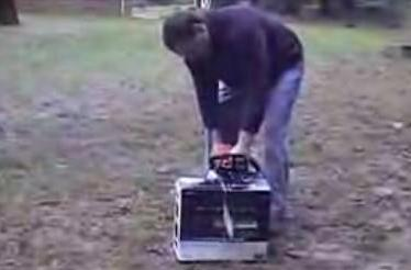 Watch out, SmashMyStuff: mountain men completely obliterate a PS3