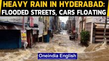Hyderabad: Flooded streets and cars floating witnessed after heavy downpour in Hyderabad