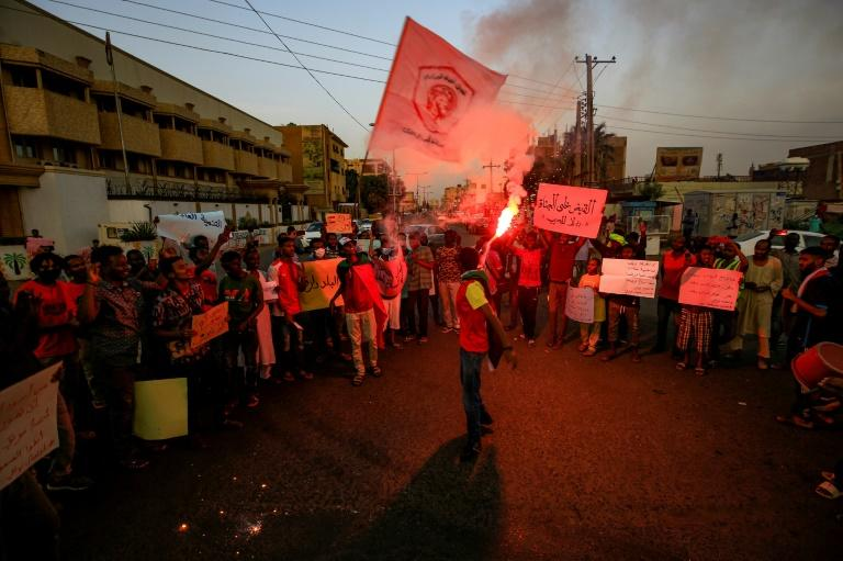 Protesters demonstrated in the Sudanese capital Khartoum in solidarity with rallies in the Central Darfur town of Nertiti demanding the government beef up security in the region