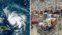 Chaotic scenes in supermarkets as 'catastrophic' hurricane bears down on Florida