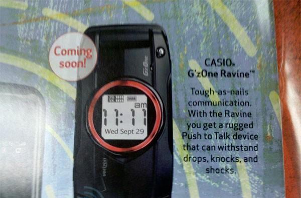 Casio G'zOne Ravine coming soon on Verizon, it seems