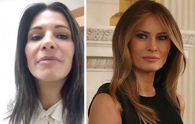 Claudia Sierra, left, and Melania Trump