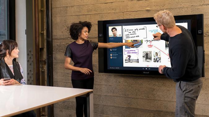 Microsoft's 84-inch Surface Hub won't ship until 2016