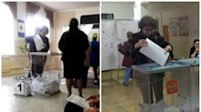 Voting twice in Russia