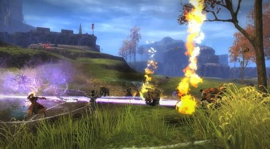 Guild Wars 2 provides a visual overview of World vs. World