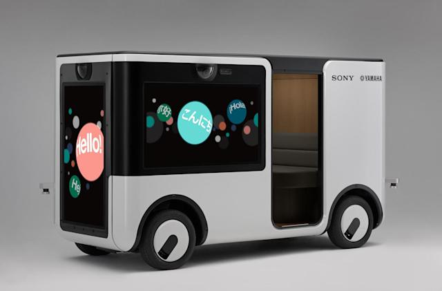 Sony and Yamaha are making a self-driving cart for theme parks