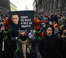 Navalny's wife detained amid mass arrests as protests sweep across Russia