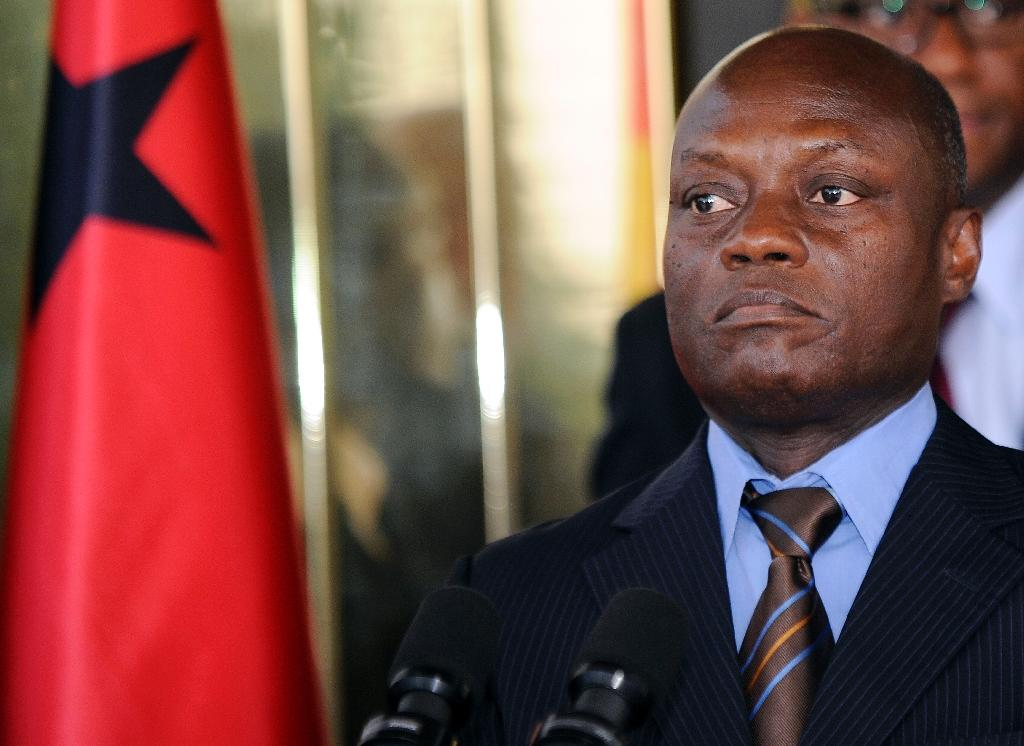 Guinea-Bissau's President Jose Mario Vaz listens to questions during a joint press conference in Abidjan on June 11, 2014