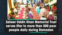 Zaheer Uddin Khan Memorial Trust serves Iftar to more than 500 poor people daily during Ramadan