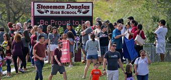 Students return to Florida school where 17 were killed