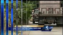 Gas line hit on North Side