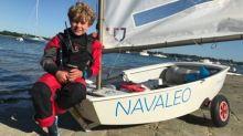12歲法國少年單人帆船橫渡英法海峽!