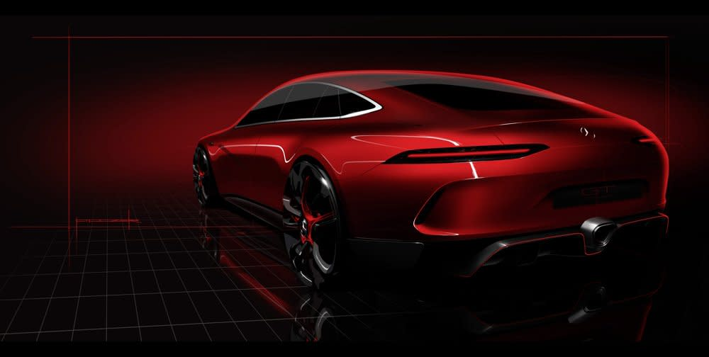 Amg Gt Concept >> New Mercedes Amg Gt Concept Is A Four Door Beauty