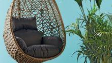 Aldi's bargain hanging egg chair has 100 five-star reviews