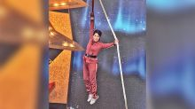 Sharon Yeung performs difficult stunts post-fire injuries