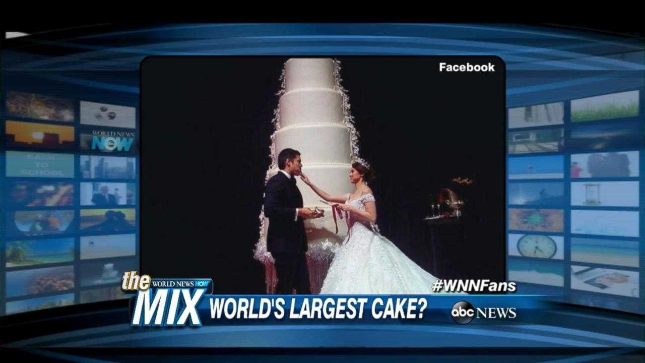 Philippines Couple Celebrates Wedding With Massive Cake