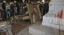 Demonstranten in den USA stürzen Bürgerkriegsstatue