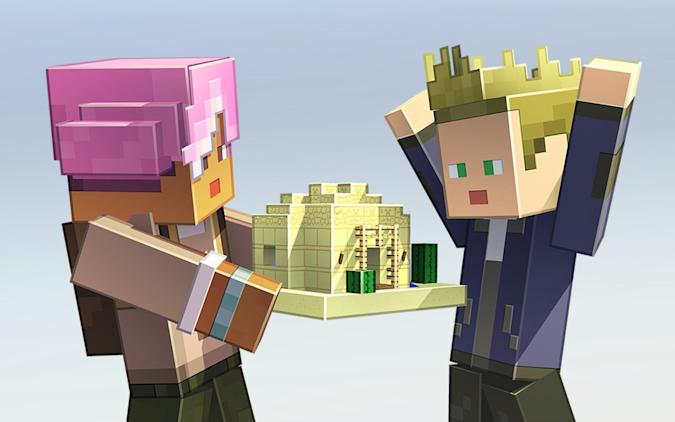Shareable 'Minecraft Earth' build