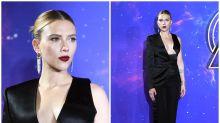 Scarlett Johansson triunfa con su look 'total black' en un acto con fans de 'Vengadores: Endgame'