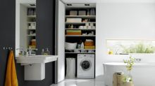 ​6 smart ways to hide a washing machine in the bathroom